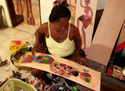 Yeb's wife Gloria and their son Solomon also assist in fulfilling orders