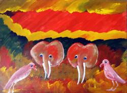 Juma---Elephants-and-Birds