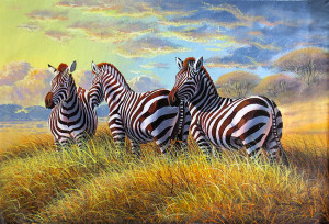 Mugwe---Zebras-at-Dusk