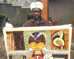 Muriithi and painting