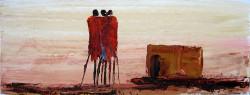Ndambo - Three in front of the Manyatta