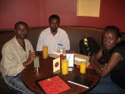 With artists Ndichu Njuguna, Joseph Thiongo and my wife, Liz