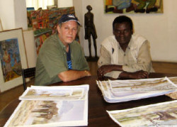 With Joel Ngoko in the famous but sadly no-longer iconic Gallery Watatu