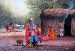 Wanjeri - Maasai Family at the Manyatta