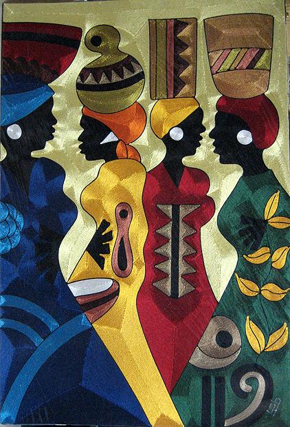 Yeb Silk Thread Art Inside African Art