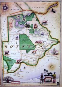 Blue Rhino Map - Botswana