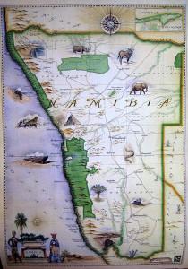 Blue Rhino Map - Namibia