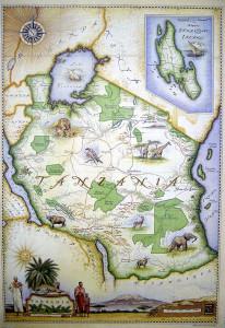 Blue Rhino Map - Tanzania