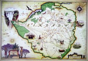 Blue Rhino Map - Zimbabwe