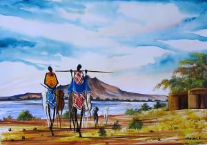 Malak - Manyatta Near Lake