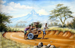 Mugwe---Hauling-Vegetables-Near-Mt.-Kenya