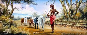 Mugwe---Maasai-Herding-Cattle