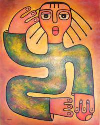Girl with long hair.47cm x 60cm.