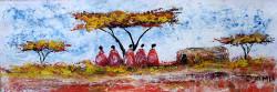 Ogambi - Five Maasai Under Acacia