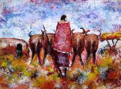 Ogambi - Herding Cattle Near Manyatta