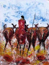 Ogambi - Moran Herding Cattle
