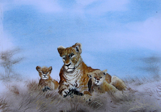 Njeru - Lioness and Cubs